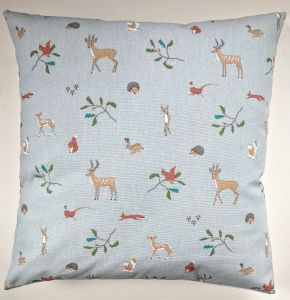 "Cushion Cover in Sophie Allport Woodland Hedgehog Stag Rabbit Owl Fox 14"" 16"" 18"" 20"""